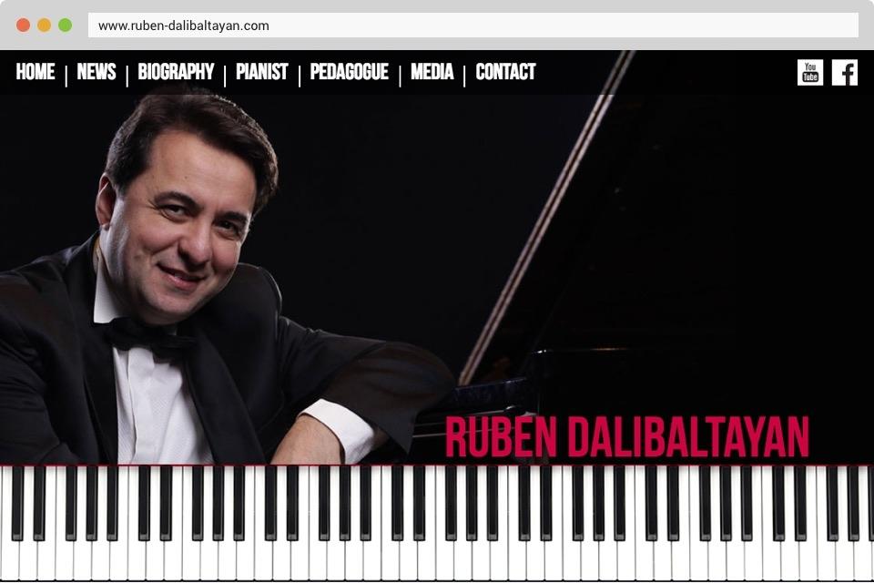 Ruben Dalibaltayan - Front Page Screenshot